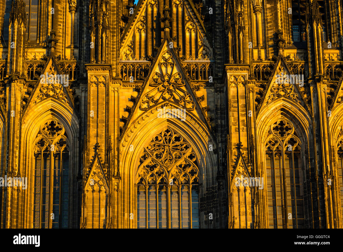 geography / travel, Germany, North Rhine-Westphalia, west facade, Cologne Cathedral, Cologne, Freedom-Of-Panorama - Stock Image