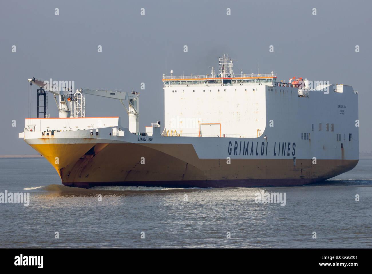 Grande Togo ship from Grimaldi Lines Stock Photo