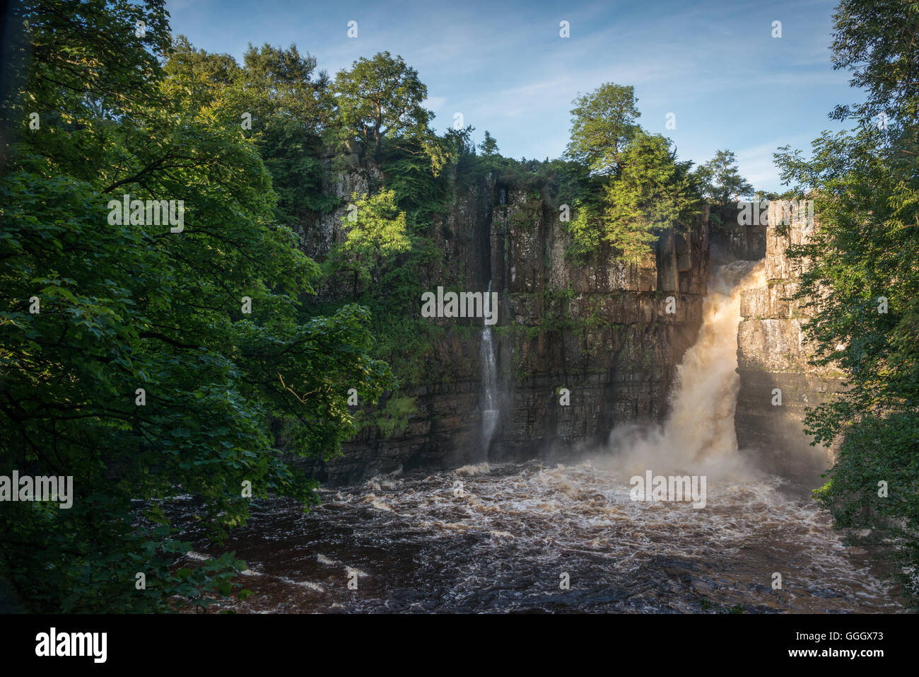 High Force waterfall, Middleton-in-Teesdale, County Durham, England, UK Stock Photo