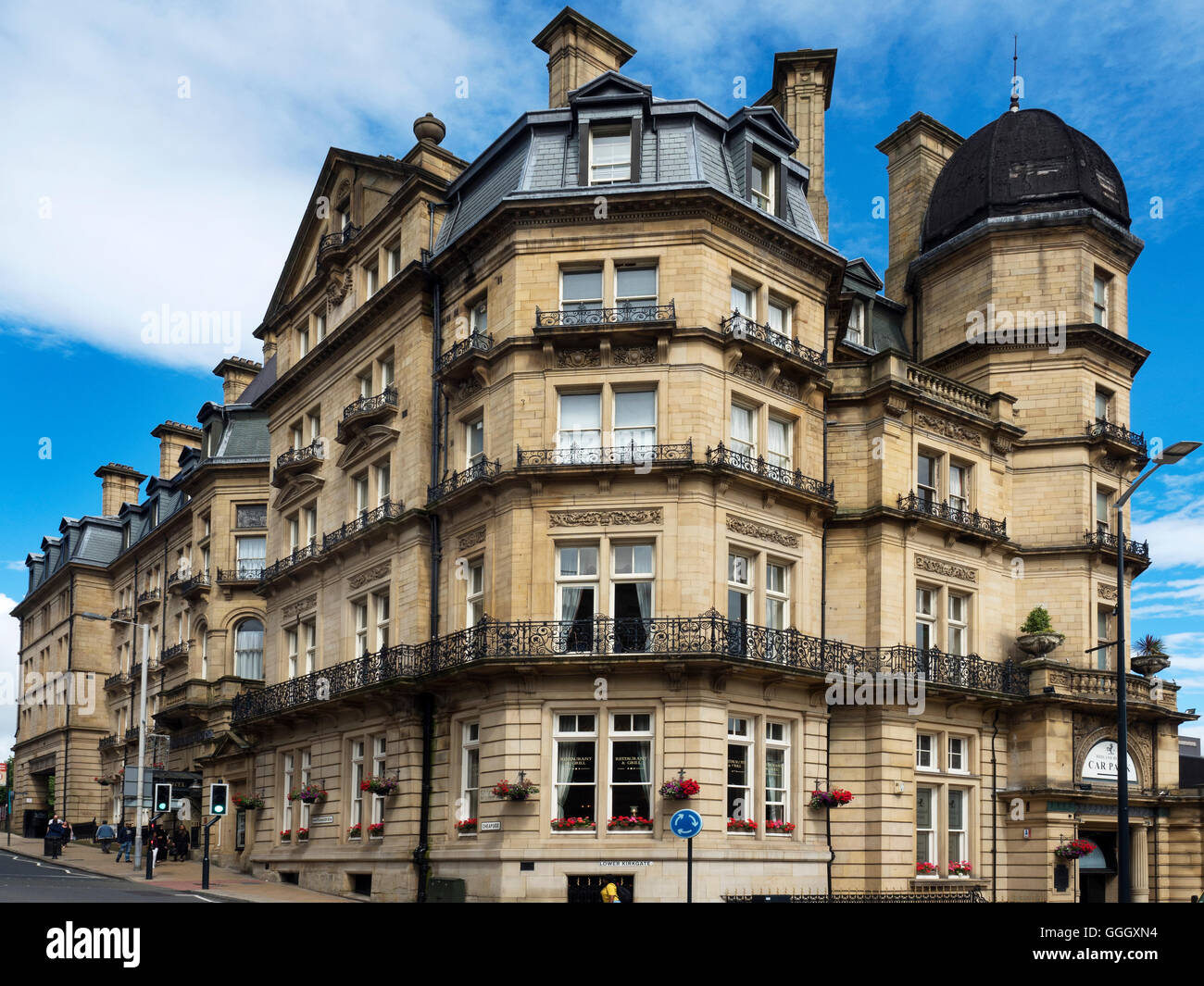 The Elegant Victorian Midland Hotel in Forster Square Bradford West Yorkshire England - Stock Image