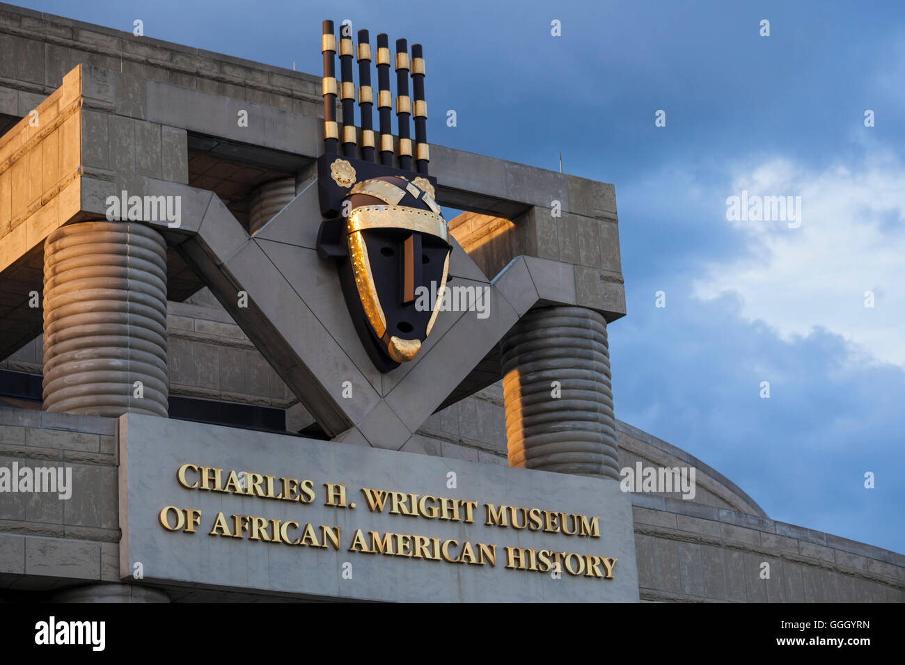 Detroit, Michigan - The Charles H. Wright Museum of African American History. - Stock Image
