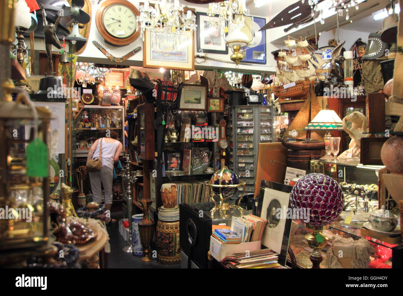 Antique and vintage goods on sale inside Langton\'s Antiques and ...