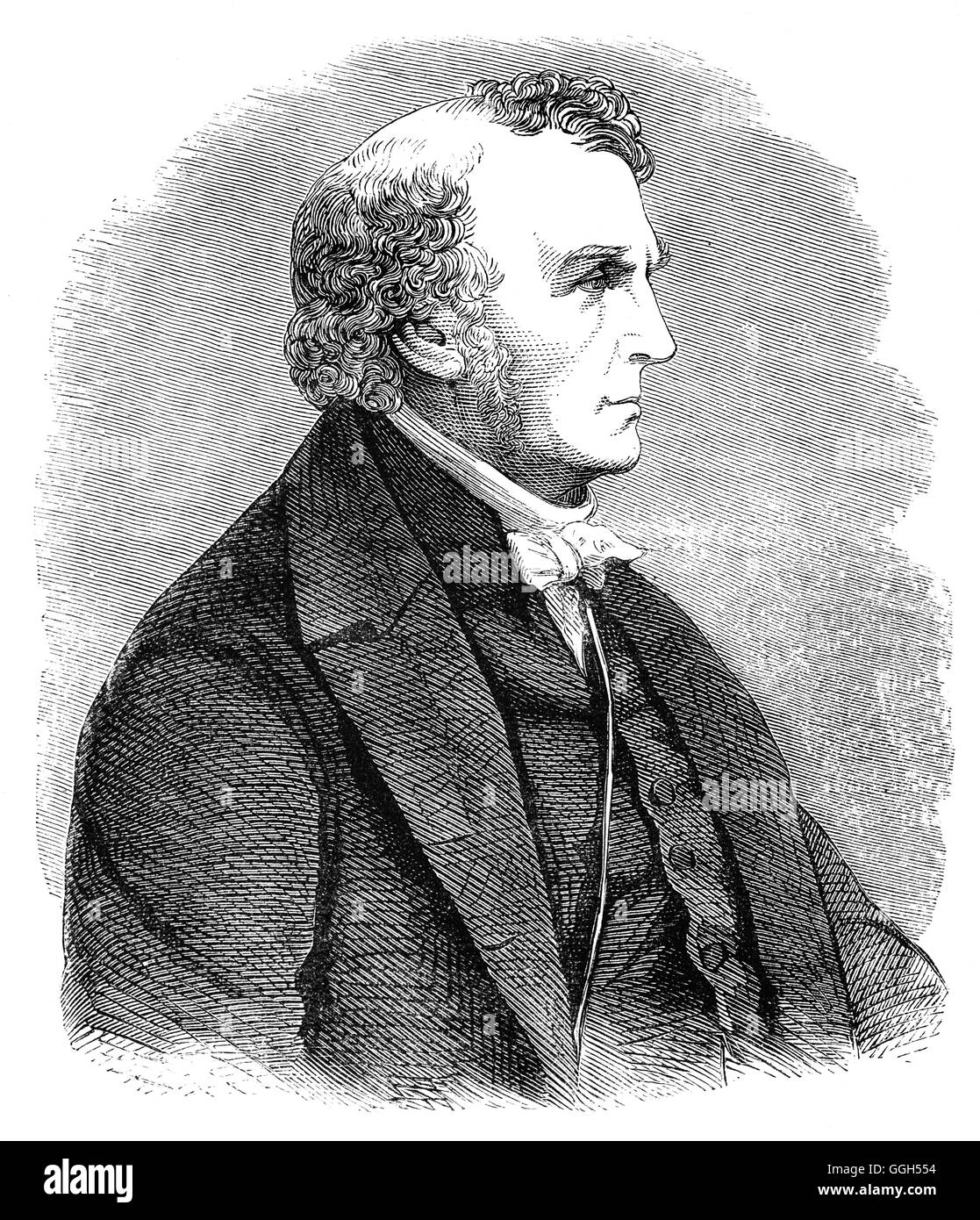Thomas Chalmers (1780 – 1847), was a writer, moralist, Scottish minister, professor of theology, political economist, - Stock Image