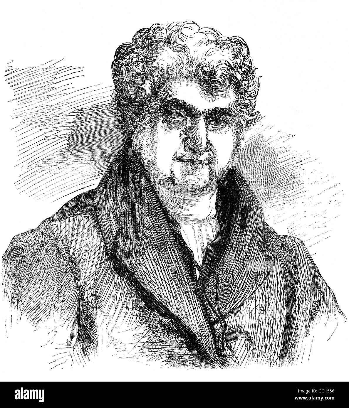 The Rev. William Jay (1769 – 1853) was an English nonconformist divine considered to be one of the most eminent - Stock Image