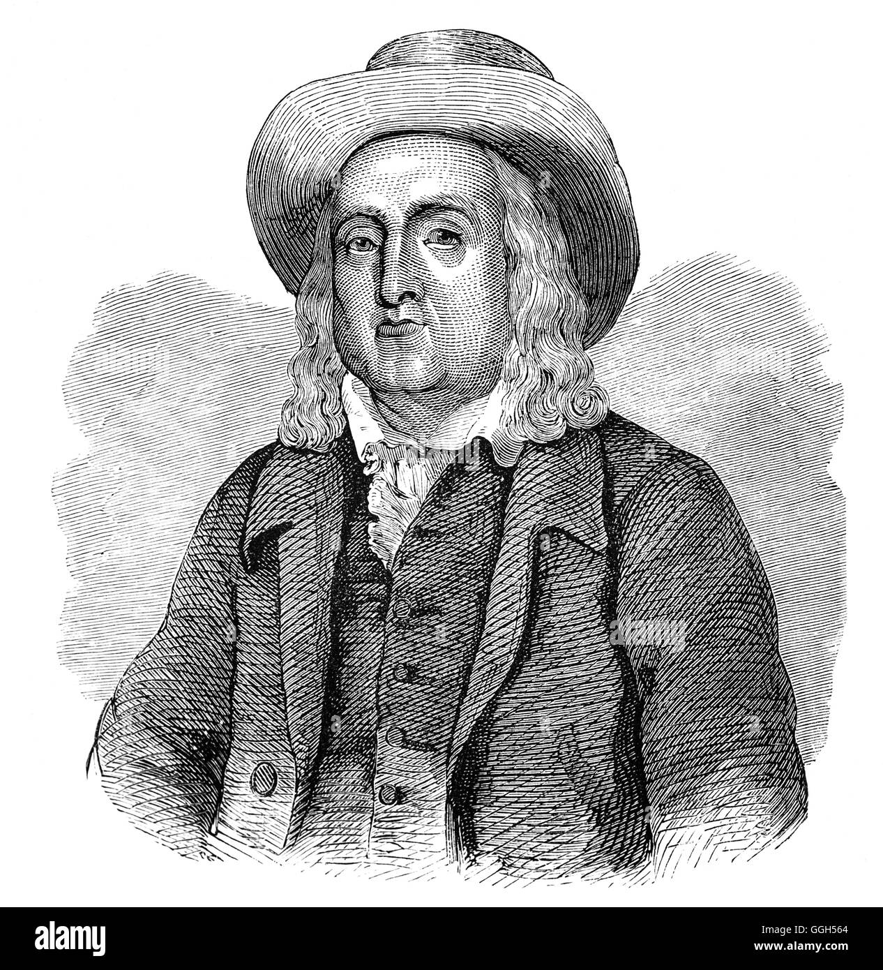 Jeremy Bentham (1747 – 1832) was an English philosopher, jurist, and social reformer. He is regarded as the founder - Stock Image