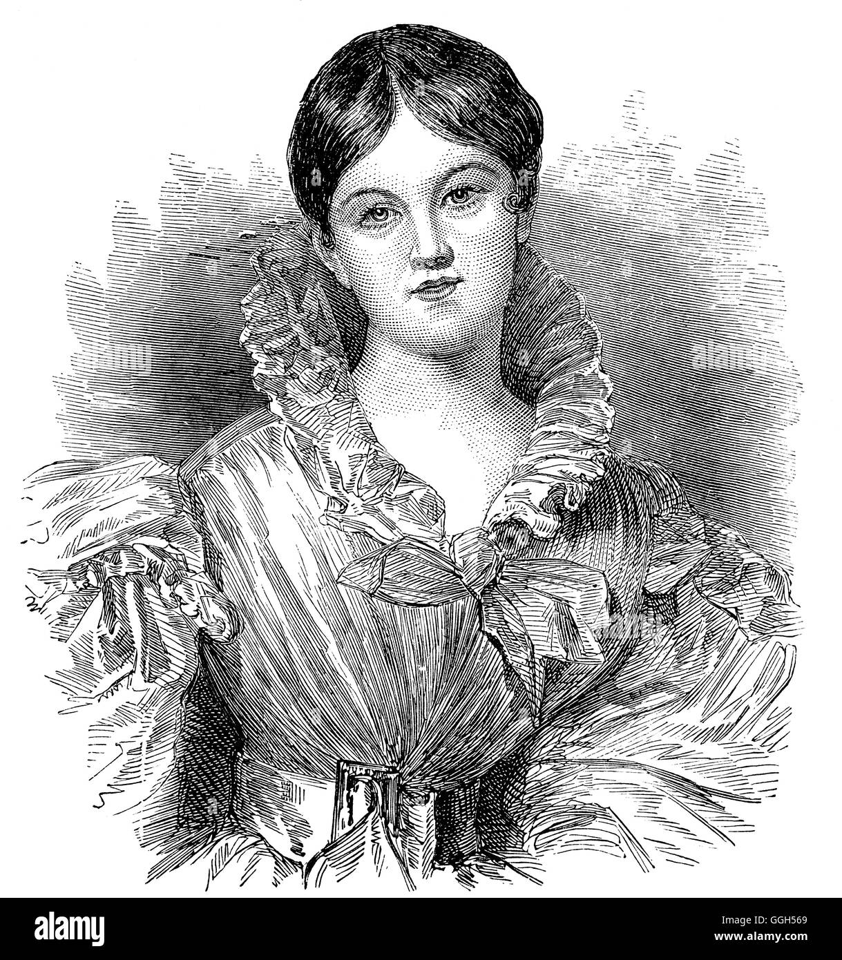 Letitia Elizabeth Landon (14 August 1802 – 15 October 1838), English poet and novelist  She was one of the first - Stock Image