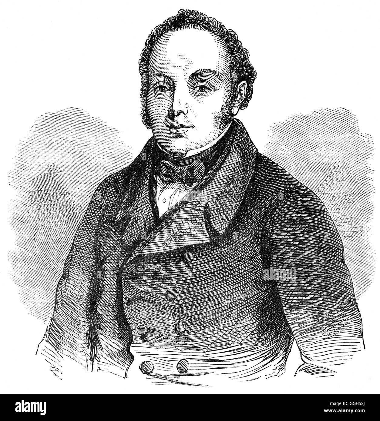 Feargus Edward O'Connor (1794 – 1855) was an Irish Chartist leader and advocate of the Land Plan, which sought - Stock Image