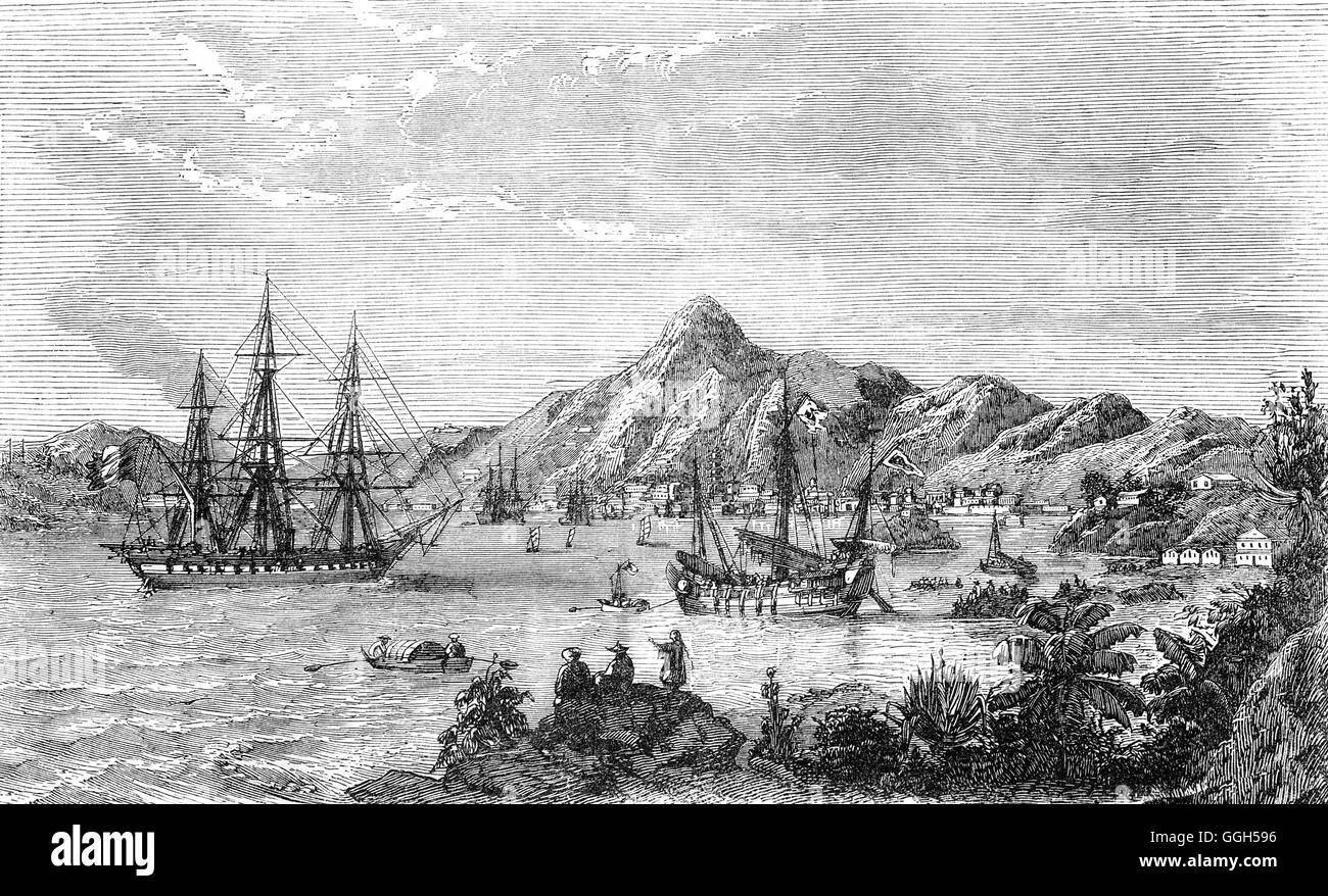 The City of Victoria was one of the first urban settlements in Hong Kong after it became a British colony in 1842. - Stock Image