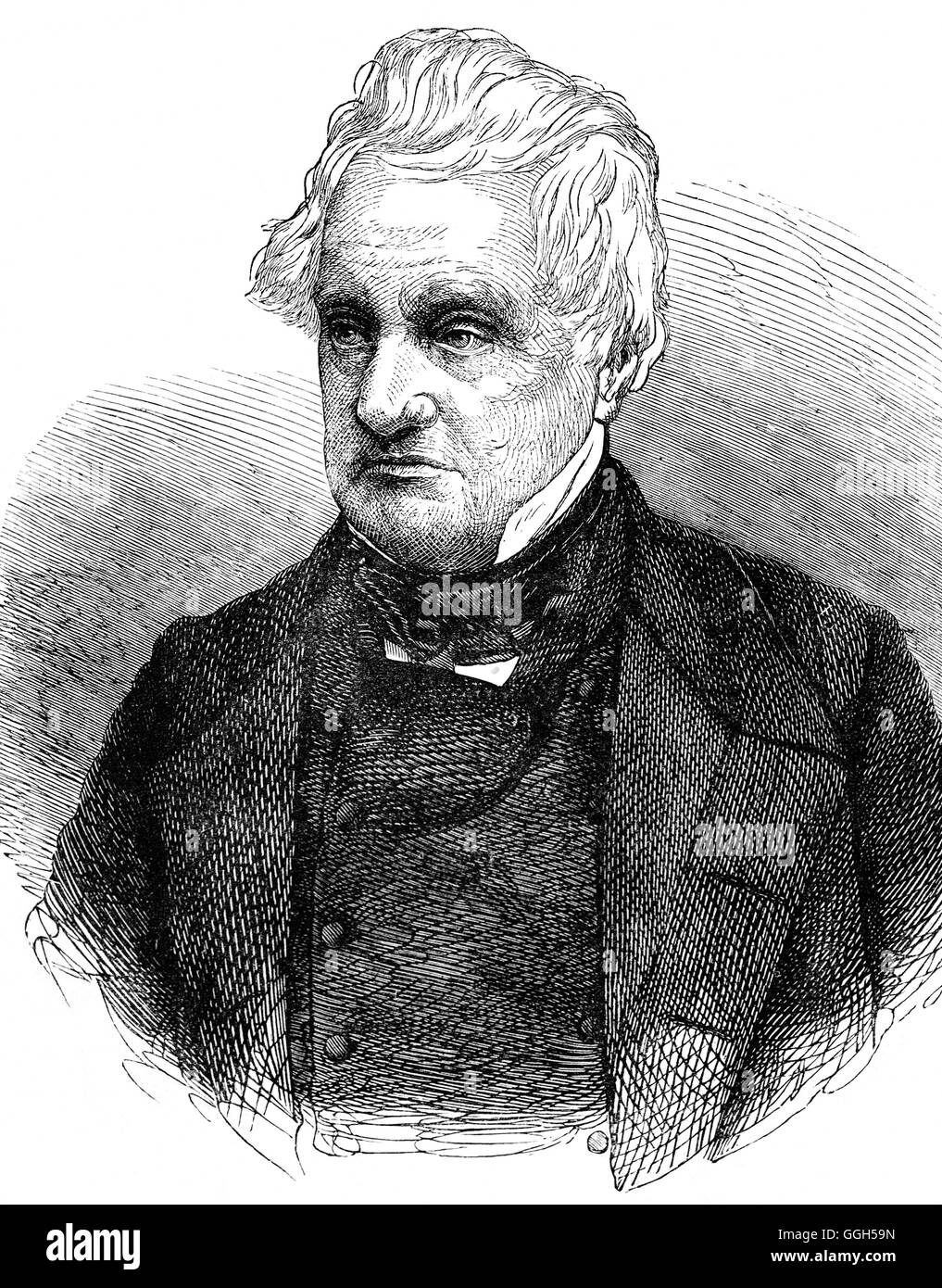 Thomas Perronet Thompson (1783–1869) was a British Parliamentarian, and as a radical reformer, wrote the True Theory - Stock Image