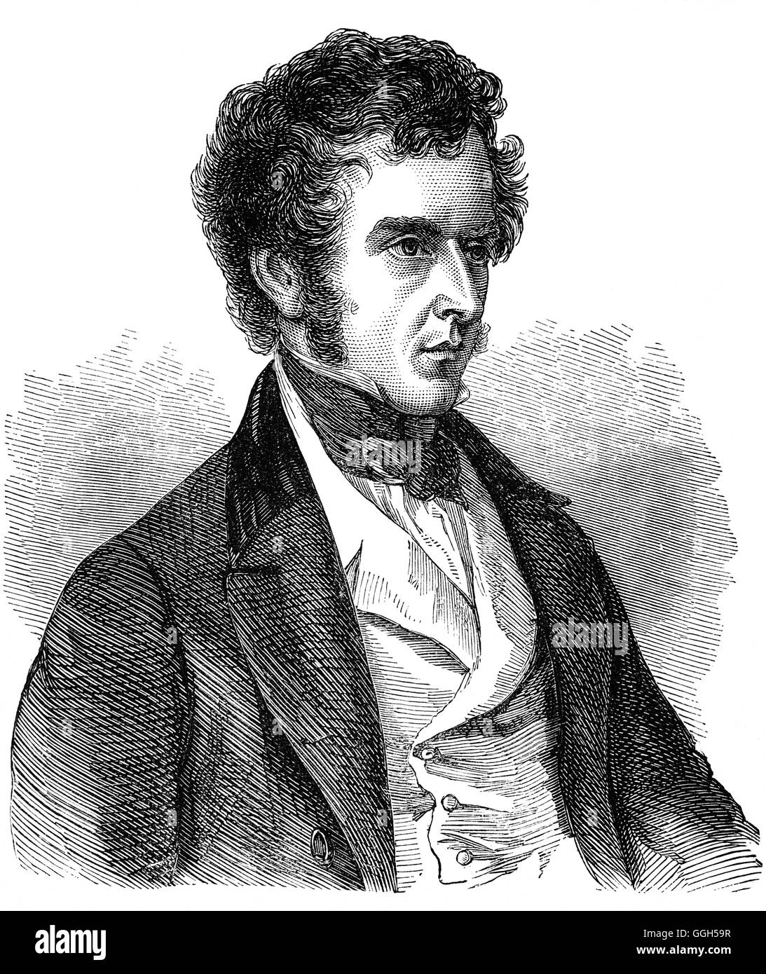 Charles Pelham Villiers (1802 – 1898) was a British lawyer and politician who sat in the House of Commons from 1835 - Stock Image