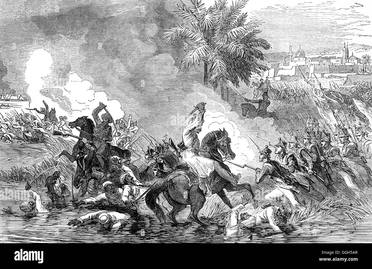 British forces invaded Jalalabad in 1838, during the First Anglo-Afghan War. In the 1842 Battle of Jellalabad, Akbar - Stock Image