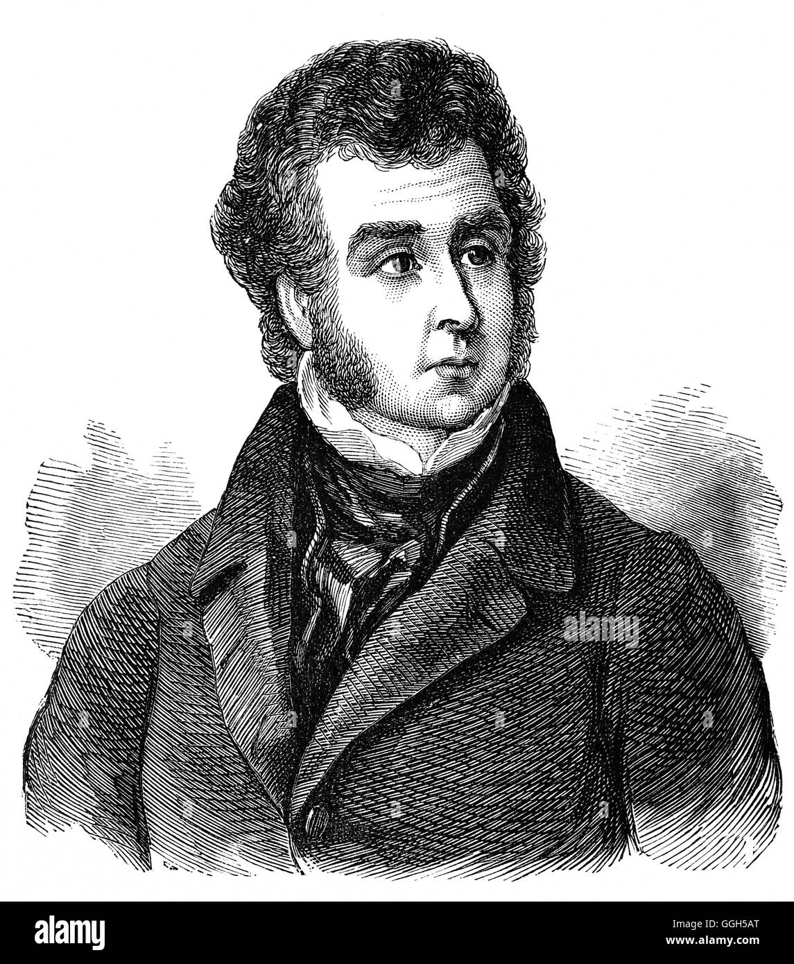 Ebenezer Elliott (1781 – 1849) was an English poet, known as the 'Corn Law Rhymer' for leading the fight - Stock Image