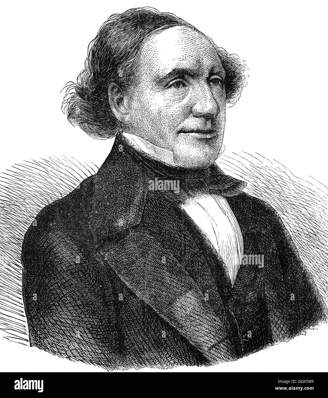 James Whiteside (1804 – 1876) was an Irish politician and judge who  defended Daniel O'Connell on charges of - Stock Image