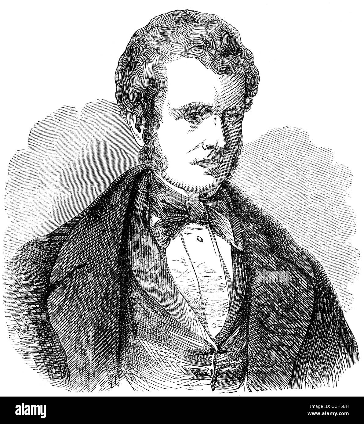 John Arthur Roebuck (1802 – 1879), British politician, was intimate with the leading radical and utilitarian reformers. - Stock Image