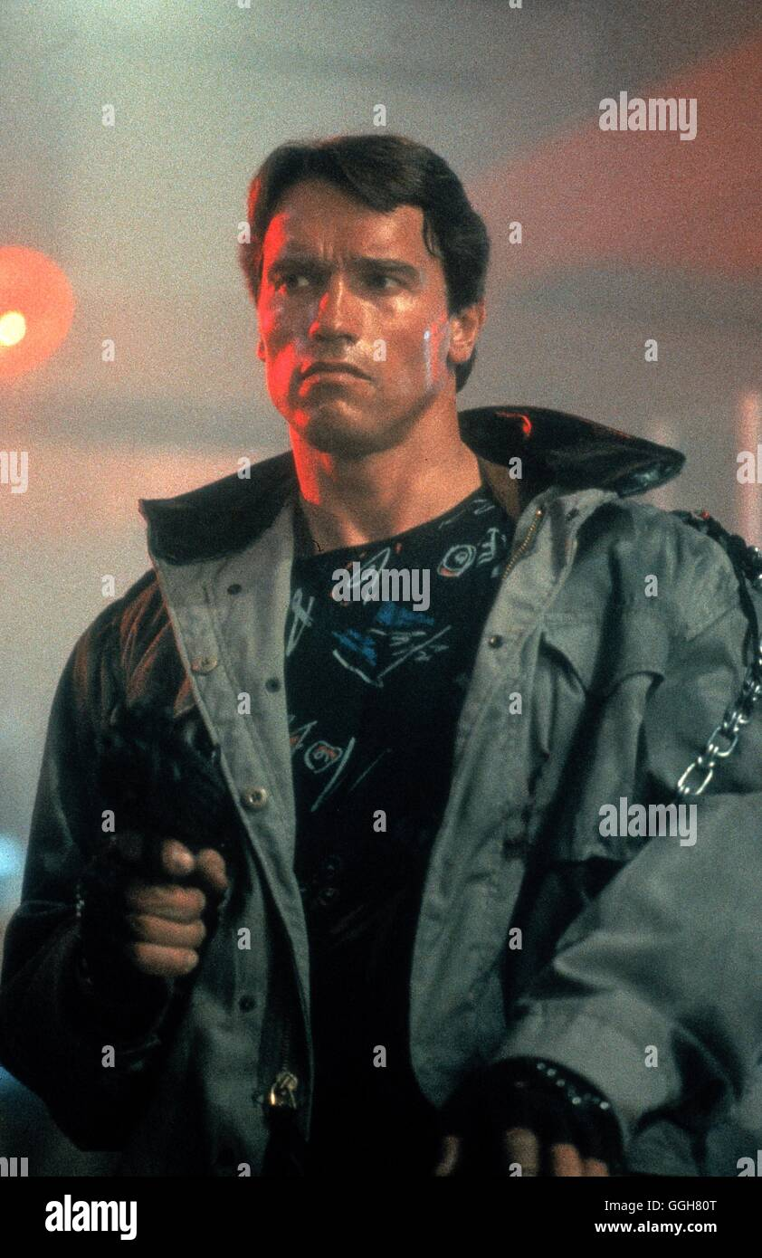 THE TERMINATOR / The Terminator USA 1984 / James Cameron Szene mit ARNOLD SCHWARZENEGGER (T-800). Regie: James Cameron - Stock Image