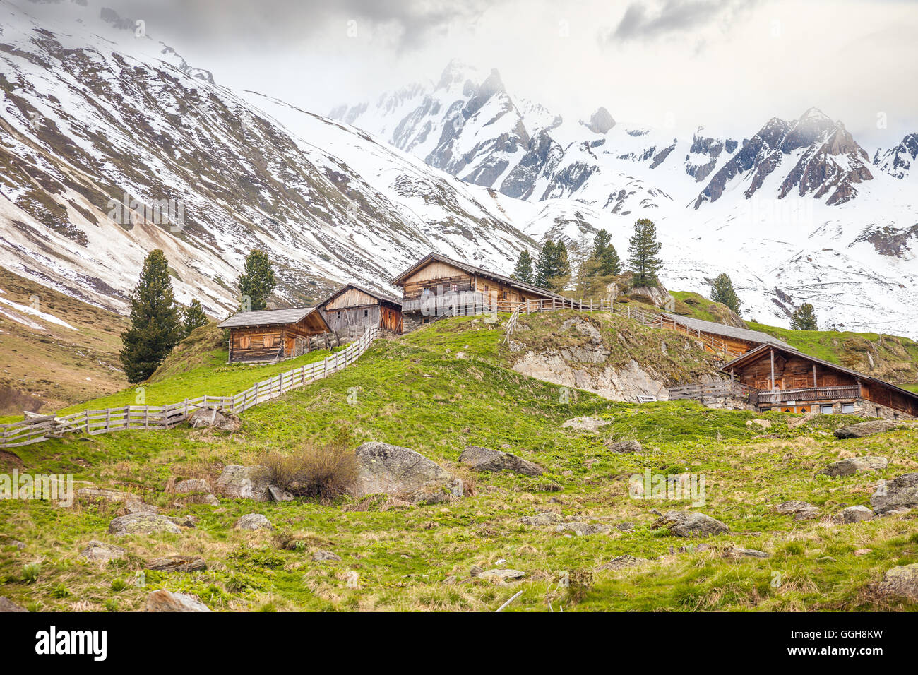 geography / travel, Italy, South Tyrol, Knuttenalm in the Reintal, Rein in Taufers, Additional-Rights-Clearance - Stock Image
