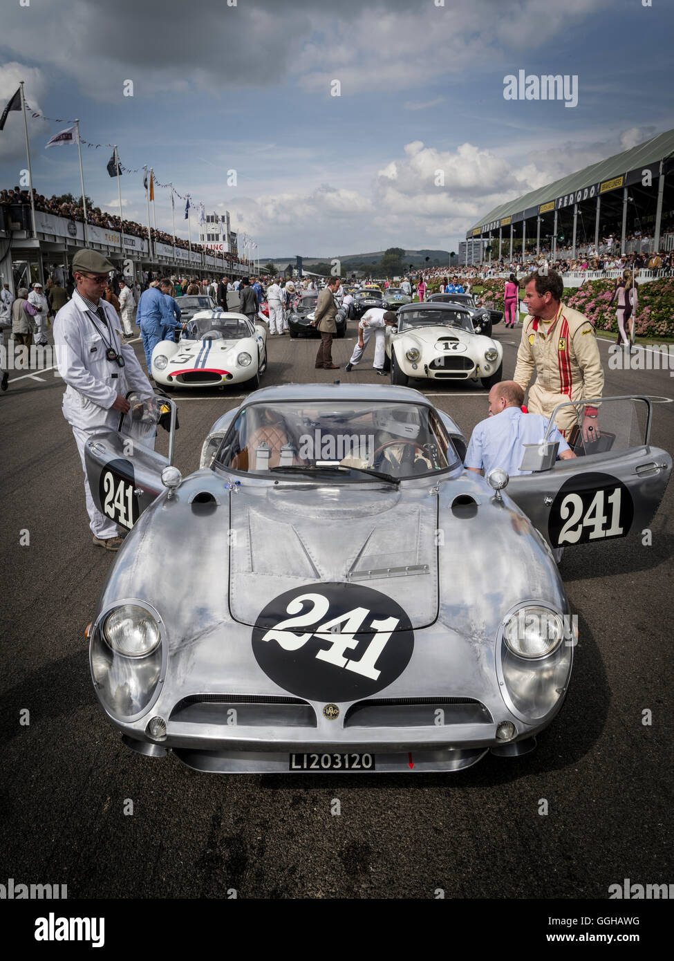 1964 ISO Bizzarini A3C, RAC TT Celebration, Goodwood Revival 2014, Racing Sport, Classic Car, Goodwood, Chichester, - Stock Image