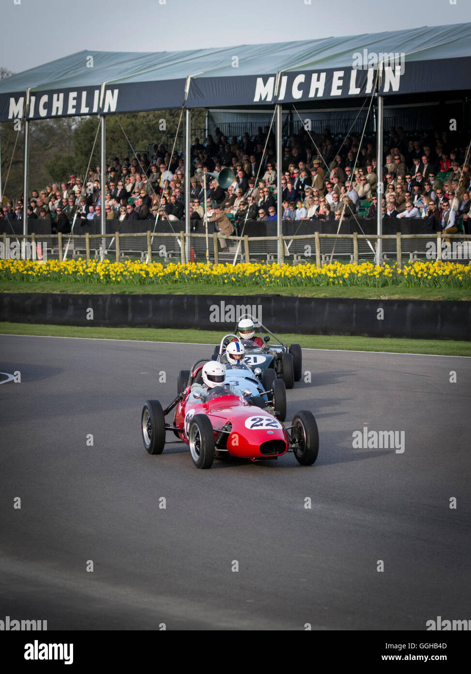 Threlfall Cup, 1958-1960 front engined Formula Junior racing cars, 72nd Members Meeting, racing, car racing, classic - Stock Image