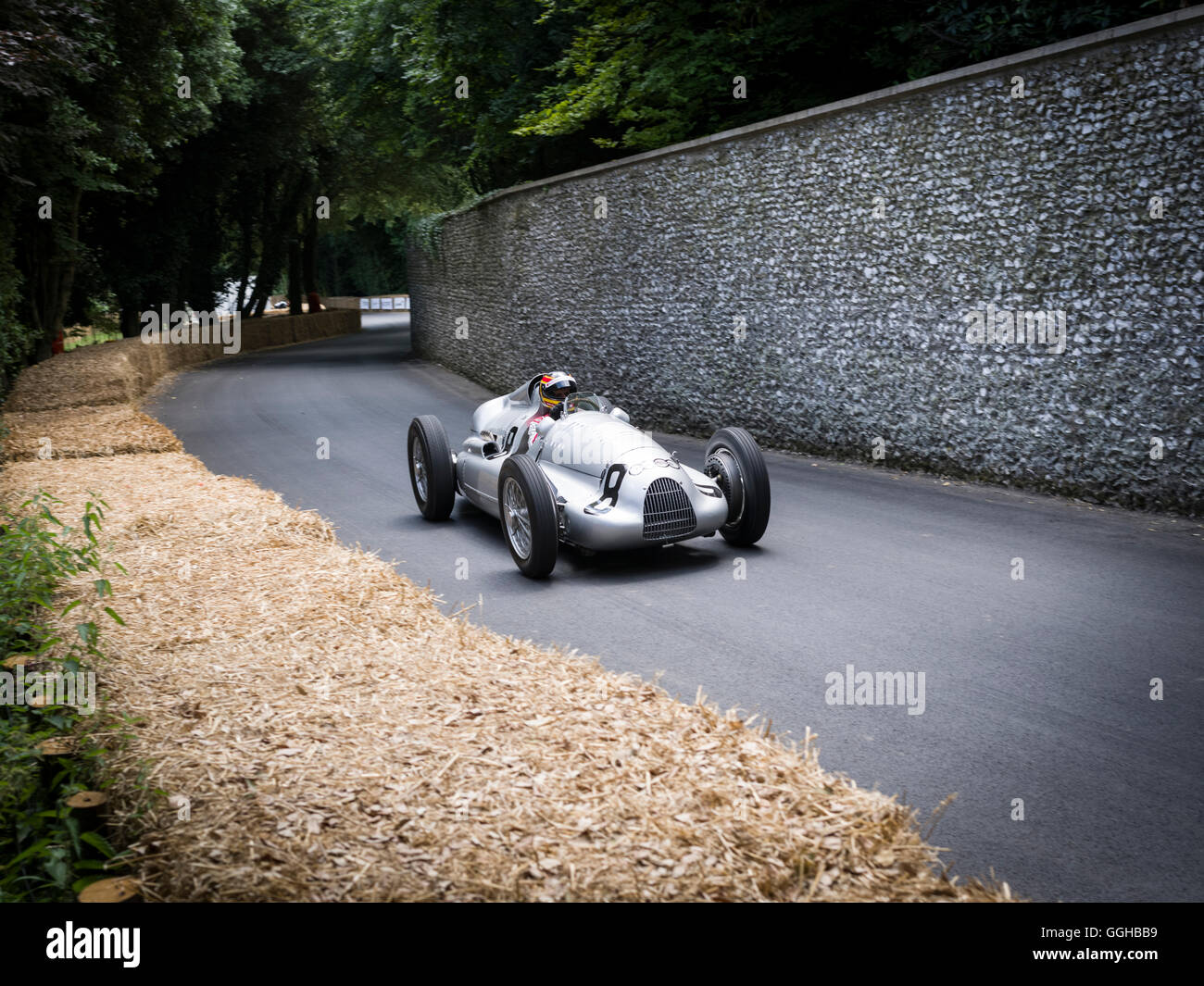 1939 Car Union Typ D, Goodwood Festival of Speed 2014, racing, car racing, classic car, Chichester, Sussex, United - Stock Image