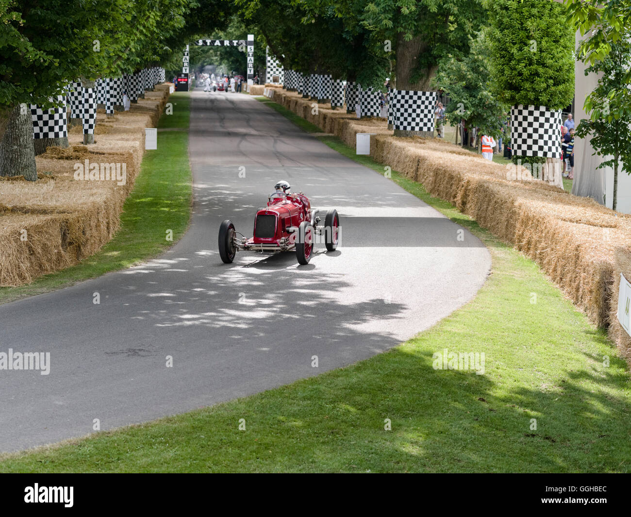 1933 Maserati 8CM, Goodwood Festival of Speed 2014, racing, car racing, classic car, Chichester, Sussex, United - Stock Image