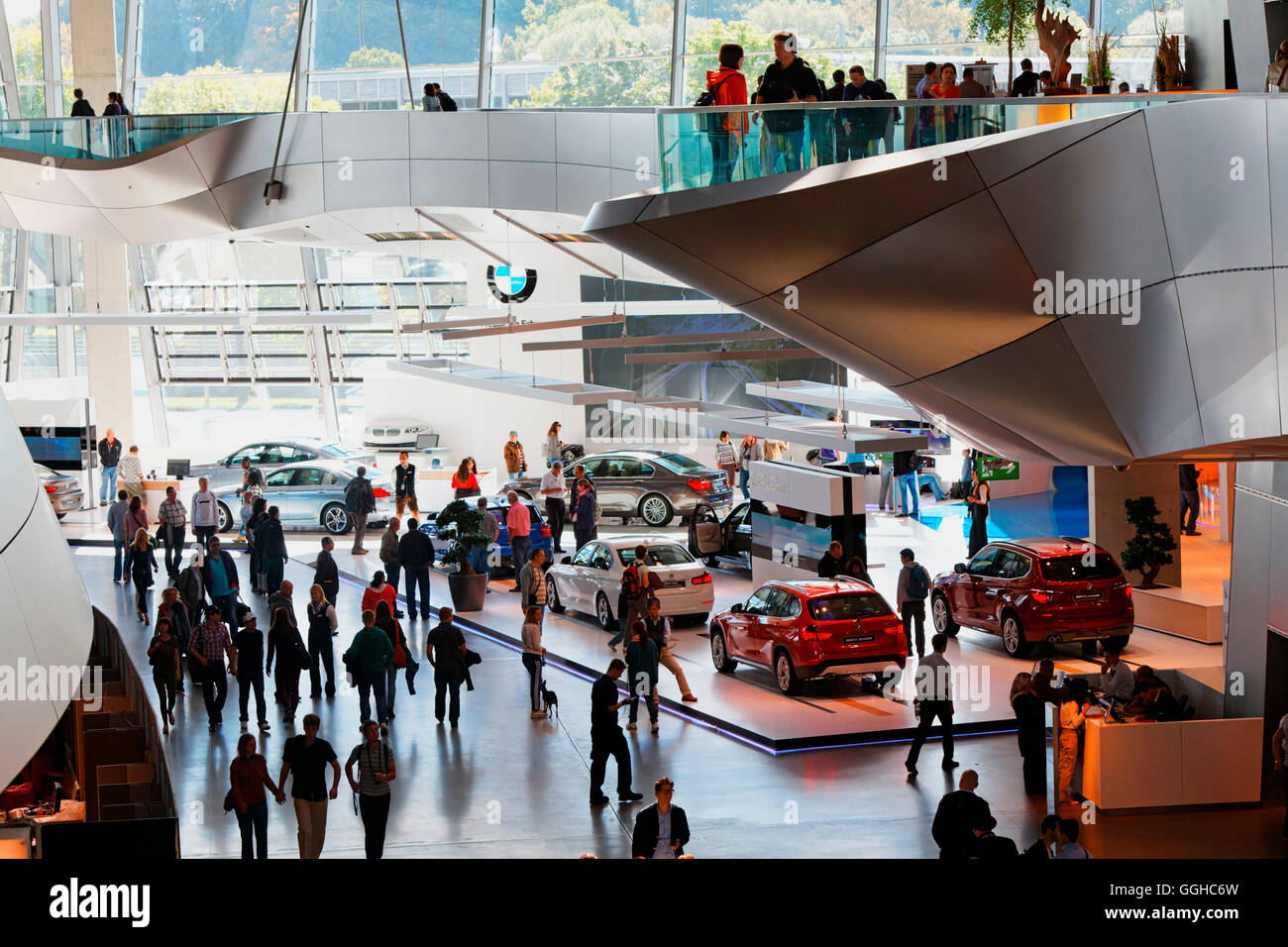 BMW-Welt, Munich, Upper Bavaria, Bavaria, Germany Stock Photo