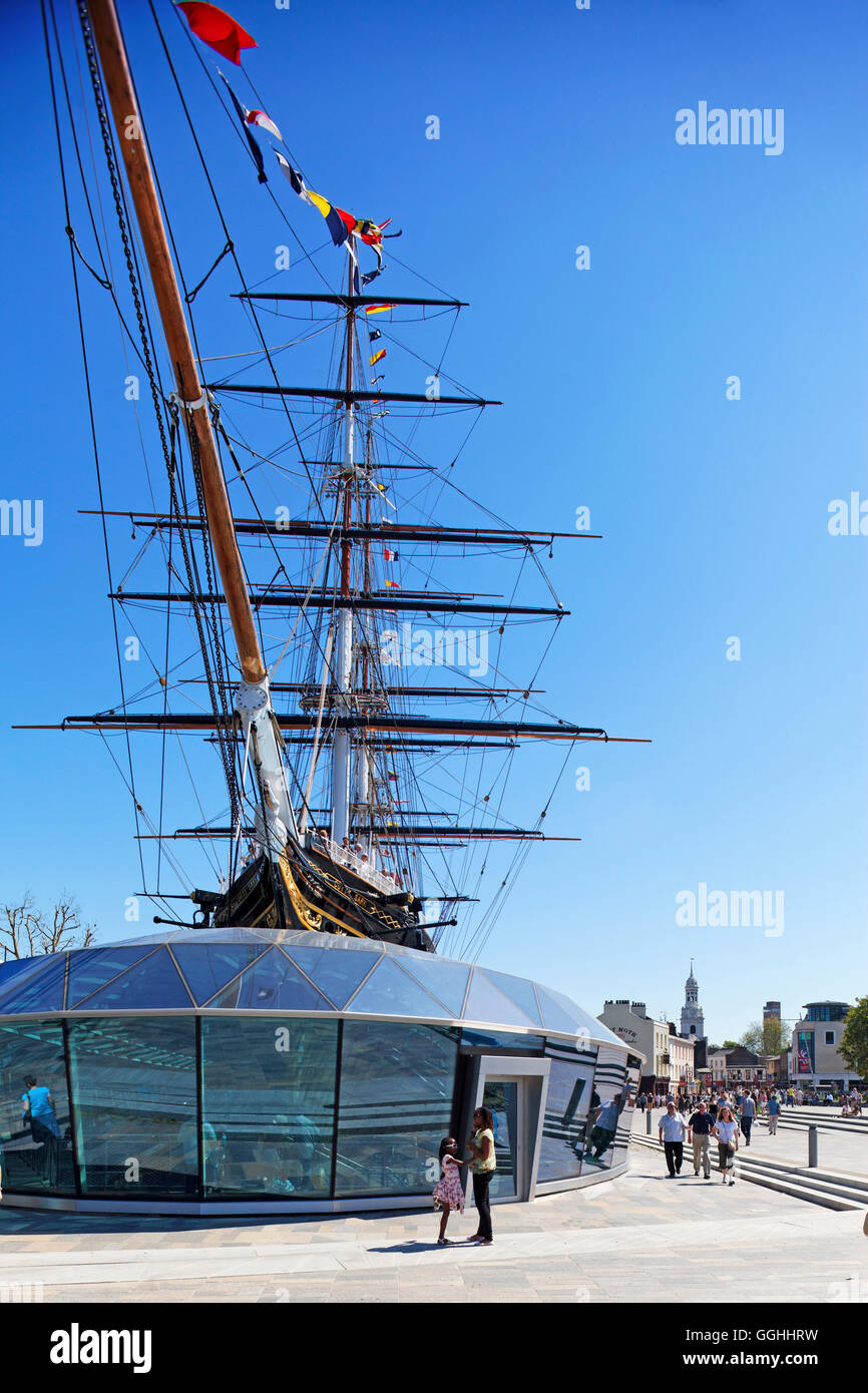 Cutty Sark Museum, Greenwich, London, England, United Kingdom - Stock Image