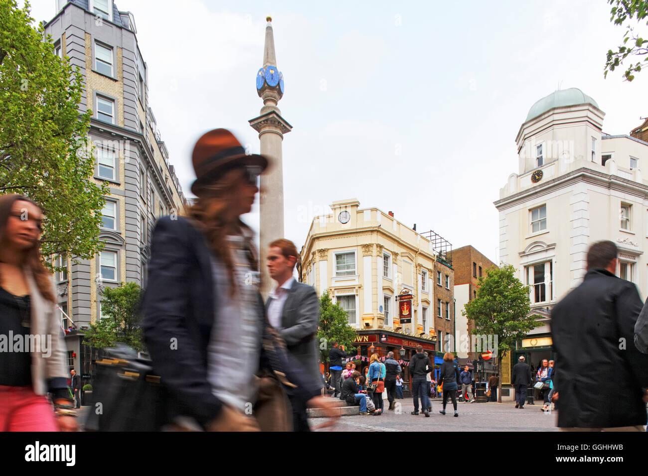 Seven Dials, West End, London, England, United Kingdom - Stock Image