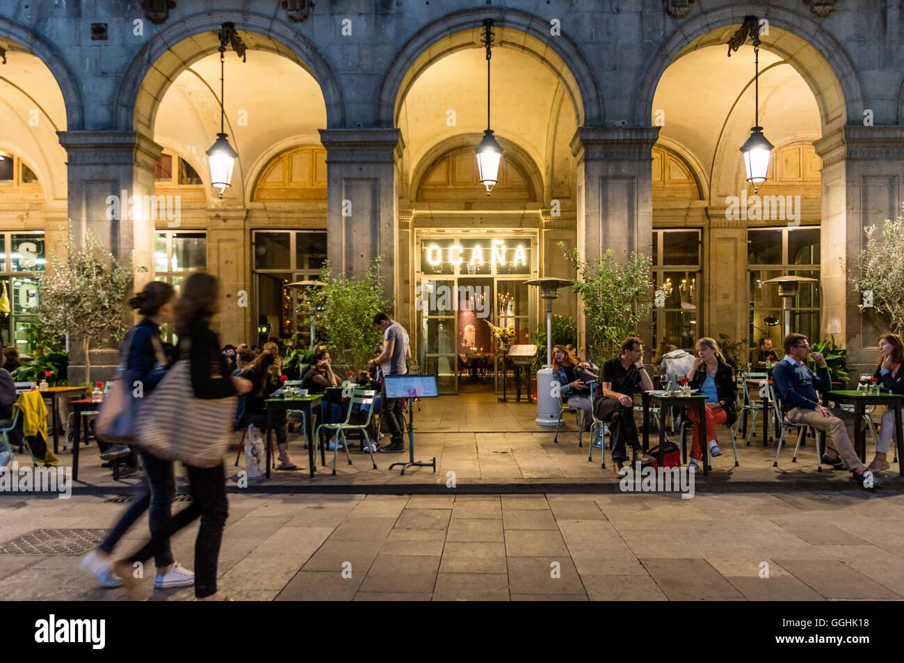 Ocana Bar, Club, Placa Reial, Barri Gotic, Barcelona, Catalonia, Spain - Stock Image