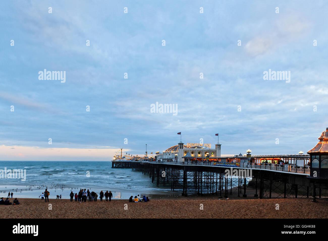 Brighton Pier, Brighton, East Sussex, England, Great Britain - Stock Image