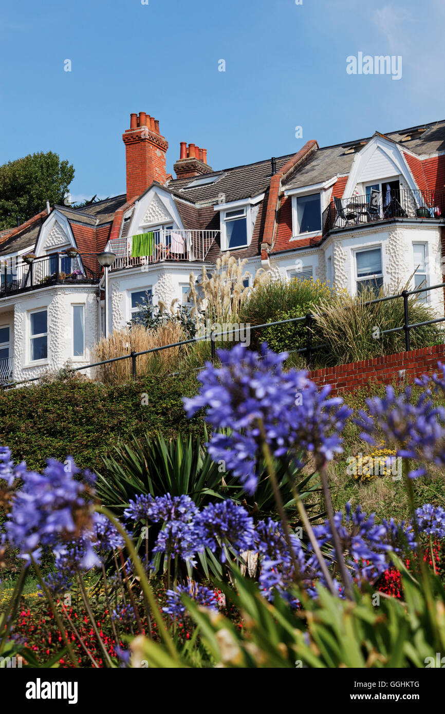Residential houses in Boscombe, Bournemouth, Dorset, England, Great Britain - Stock Image