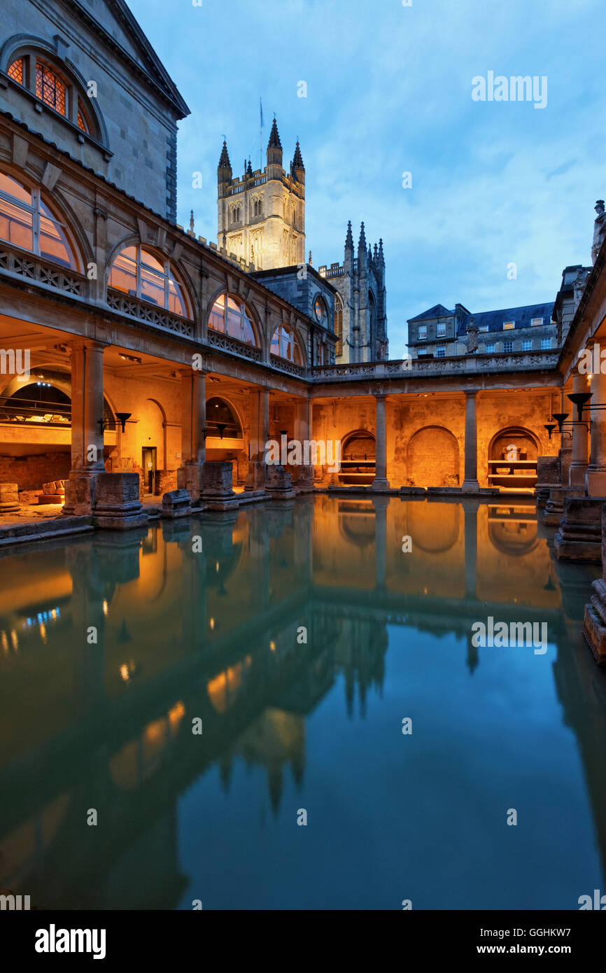Roman Baths, Bath, Somerset, England, Great Britain - Stock Image