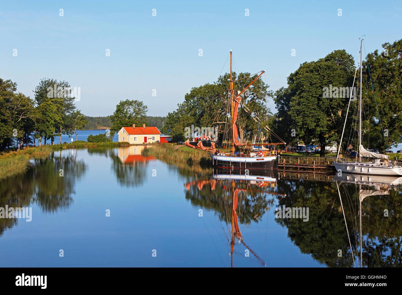 Sjoetorp at lake Vanern, Gota canal, Sweden - Stock Image