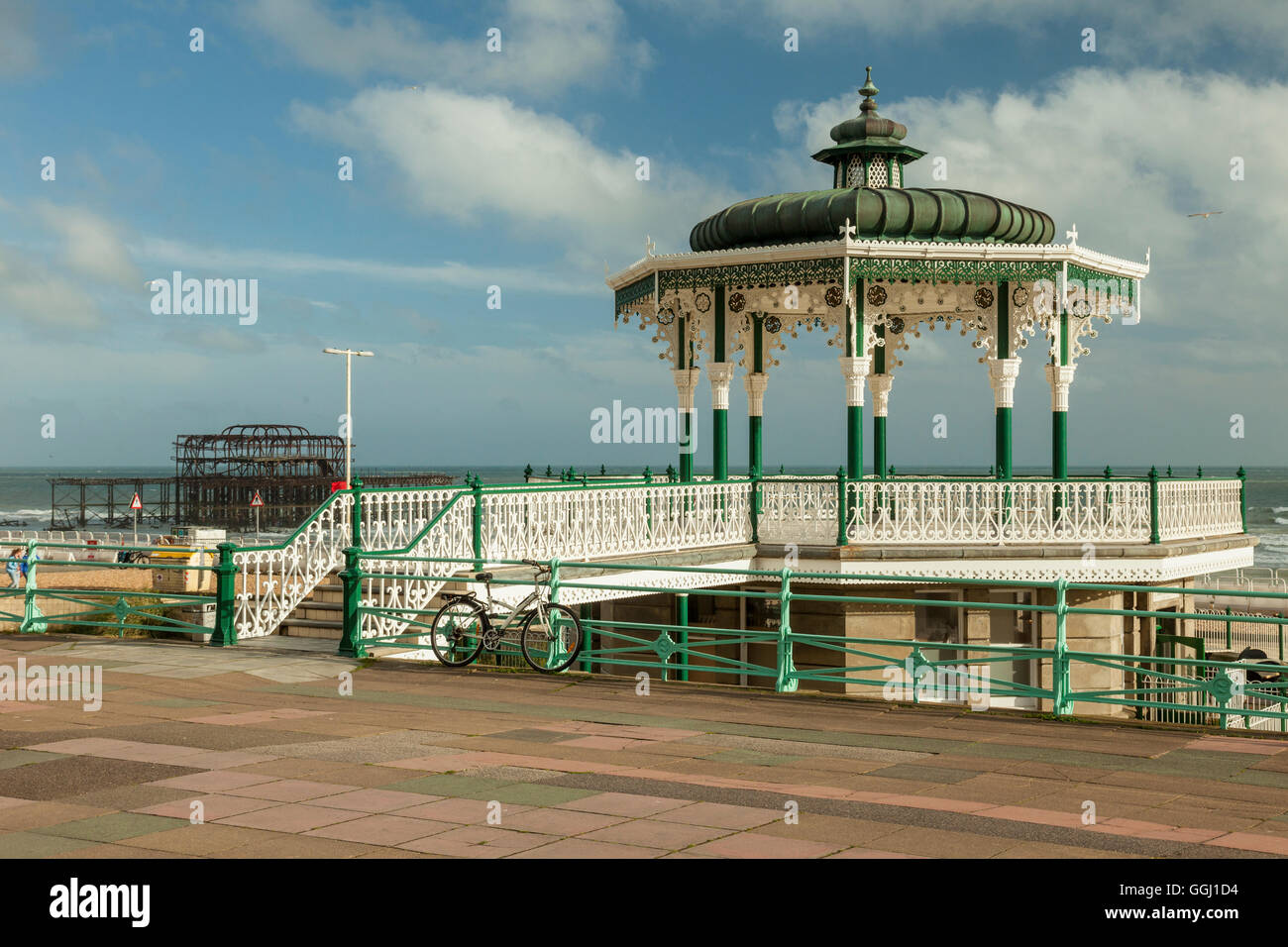 Summer afternoon at the Bandstand in Brighton, England. - Stock Image