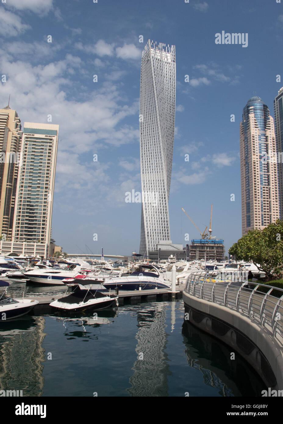 Cayan Tower in Dubai Marina, Dubai, UAE. - Stock Image