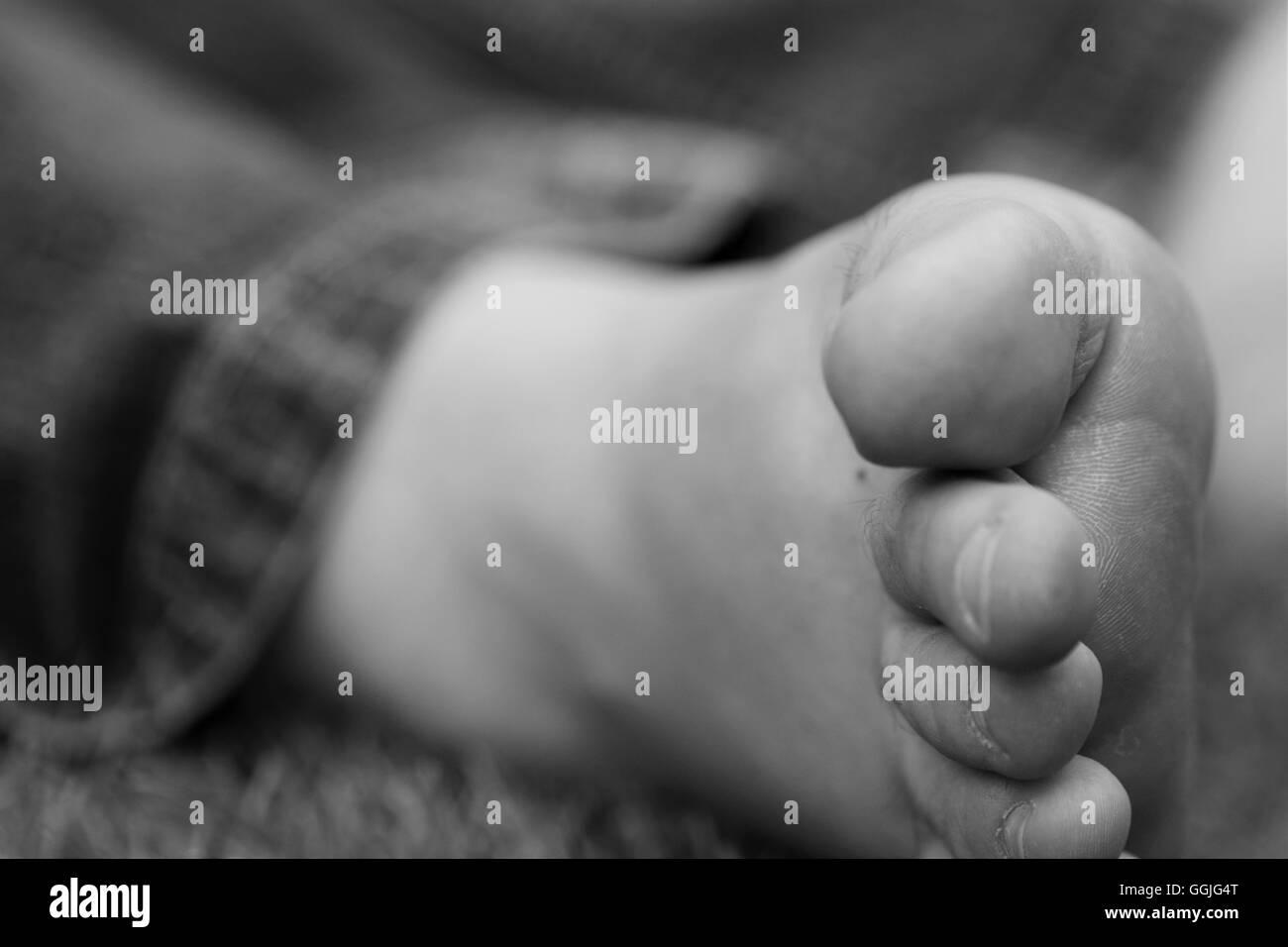 Closeup of toes. - Stock Image