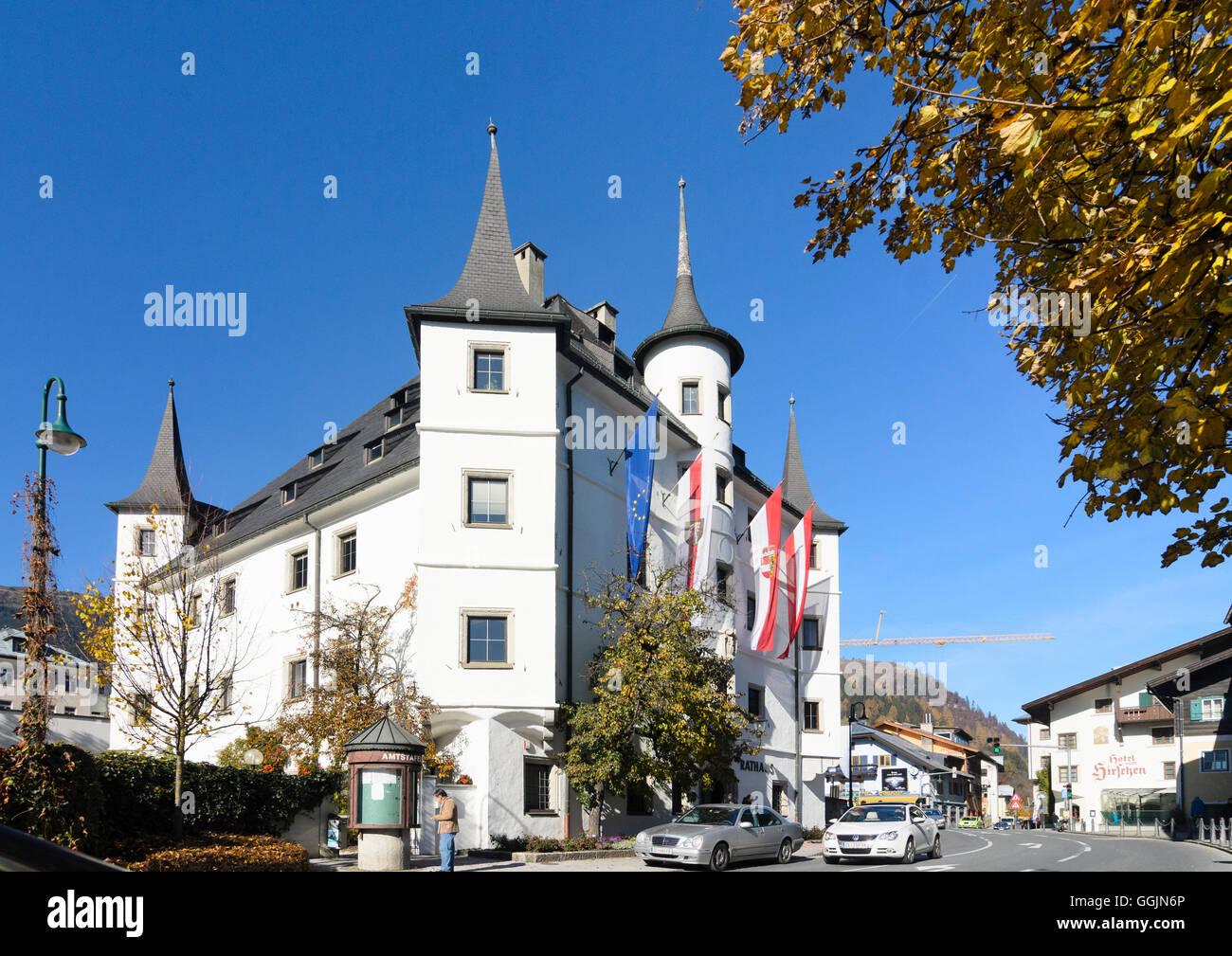 Zell am See: town hall, Austria, Salzburg, Pinzgau Stock Photo