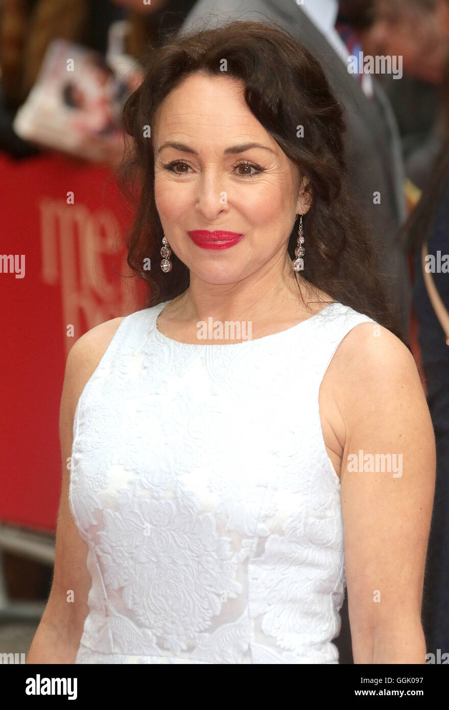 May 25, 2016 - Samantha Spiro attending 'Me Before You' - European Film Premiere at Curzon, Mayfair in London, - Stock Image