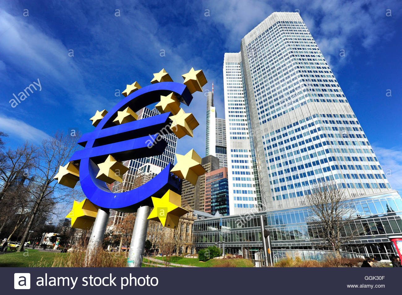 Symbol Of The Euro Currency European Central Bank Ezb Stock Photo