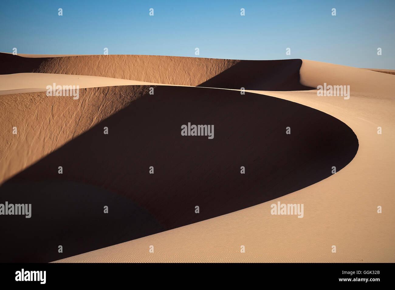 White Sand Dunes of fishing village Mui Ne, Vietnam, Southeast Asia - Stock Image