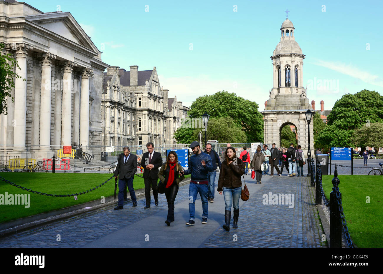 At Trinity College, Dublin, Ireland Stock Photo