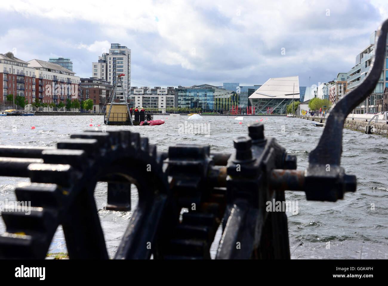 Grand Canal Dock, Docklands, Dublin, Ireland - Stock Image