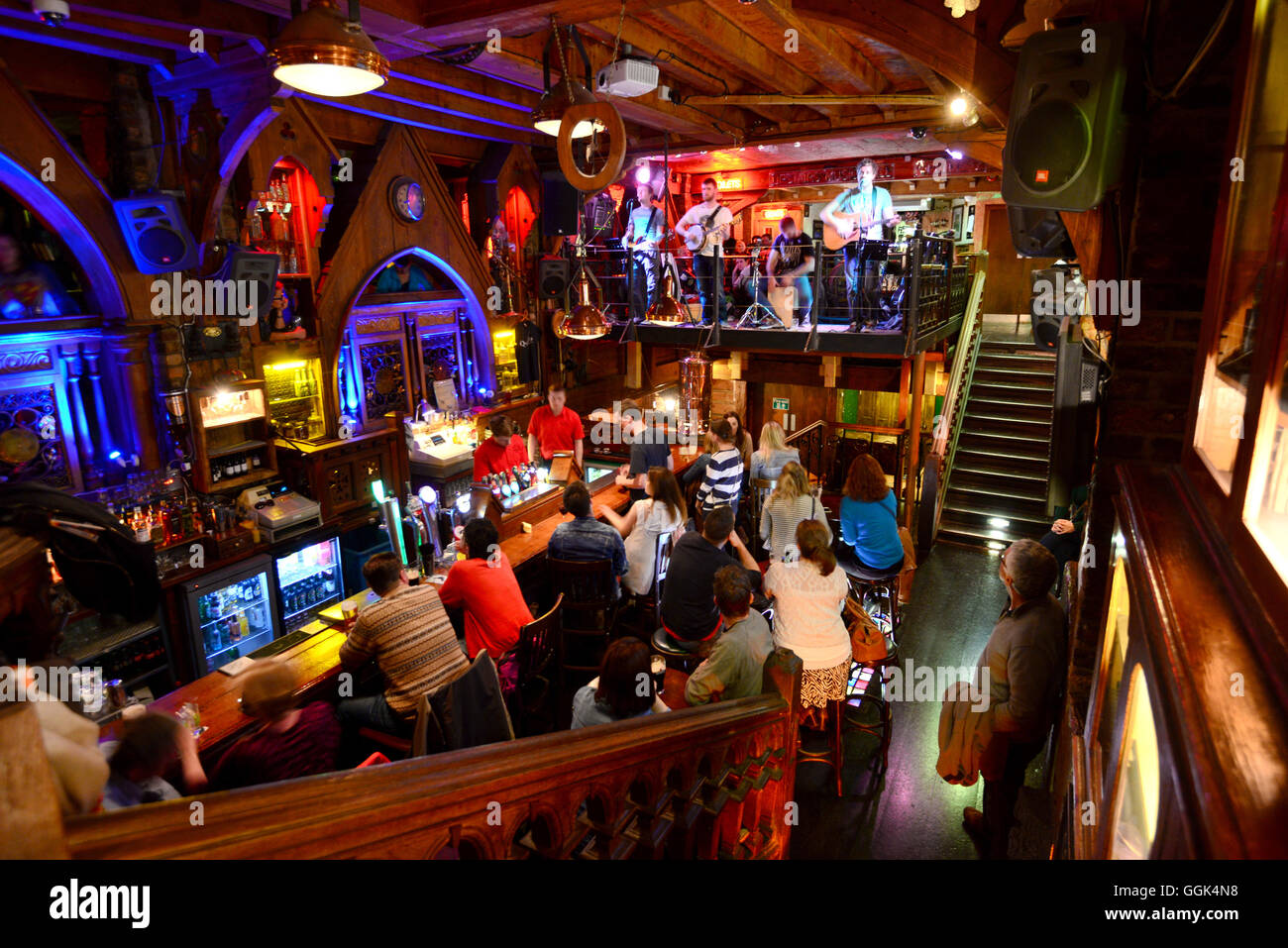 The Quays Bar in Quay Street, Galway, Ireland - Stock Image