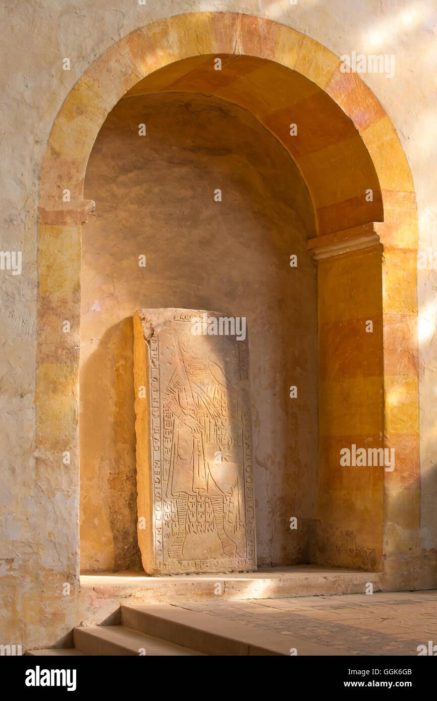 Gravestone at Haina monastery, Haina, Hesse, Germany, Europe - Stock Image