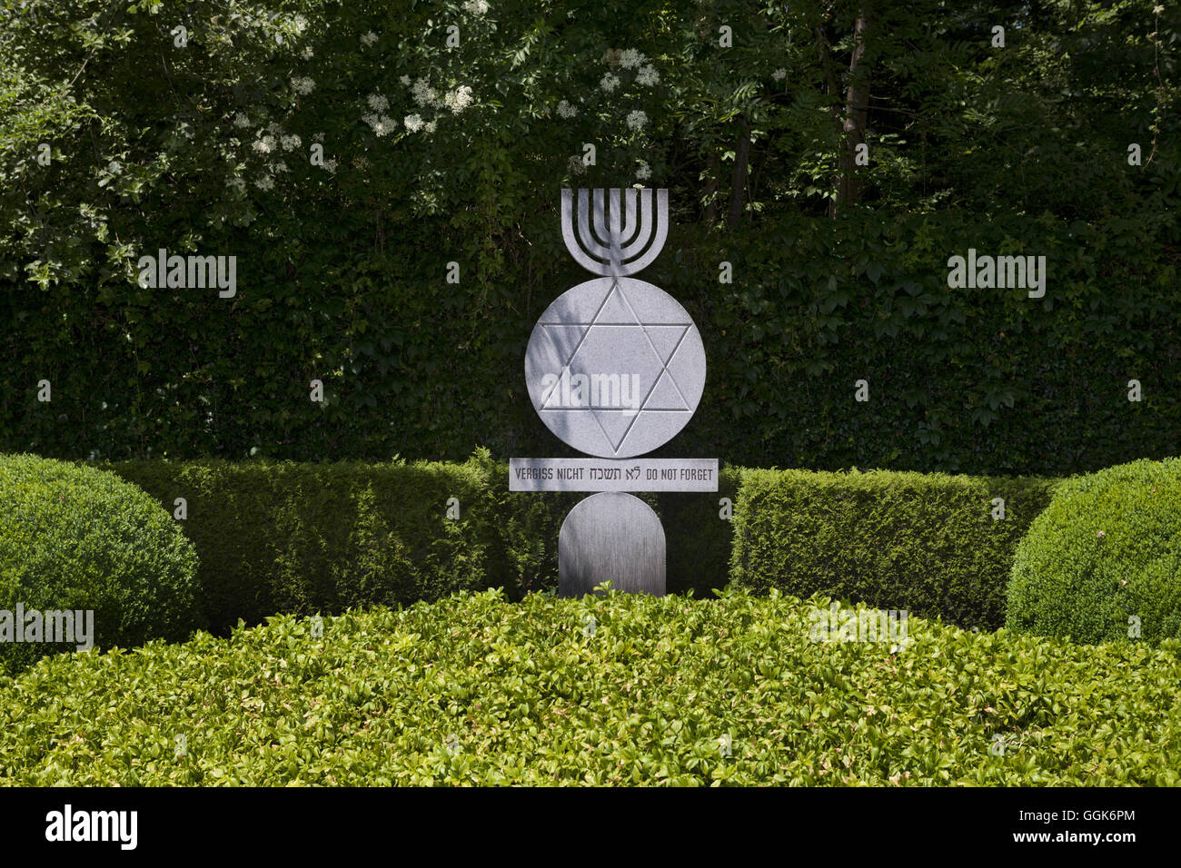 Nicht Vergessen' Memorial, Dachau Concentrations Camp, Dachau, Munich, Bavaria, Germany - Stock Image