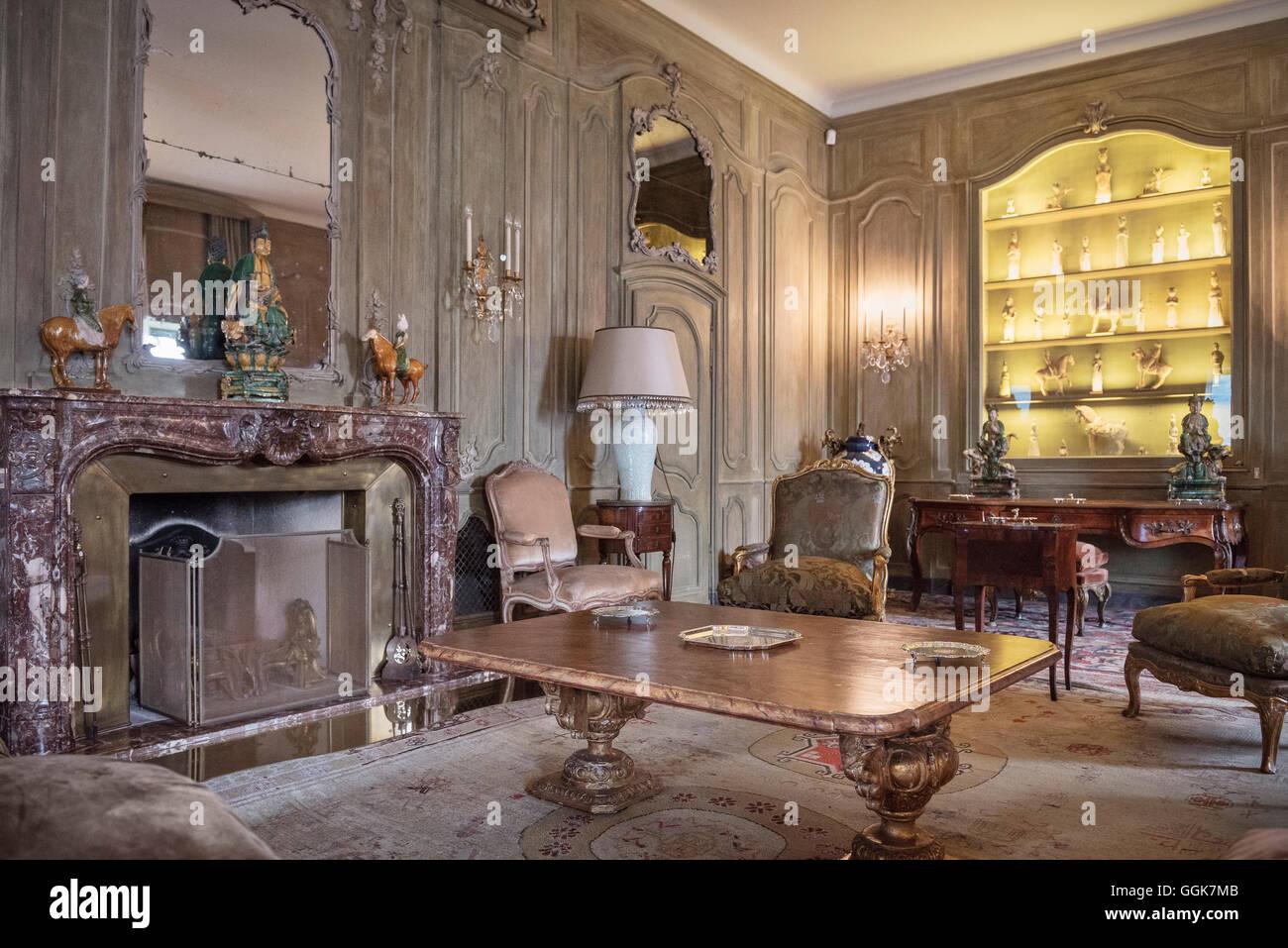Interior view of a room in villa del balbianello lenno lake como lombardy italy europe