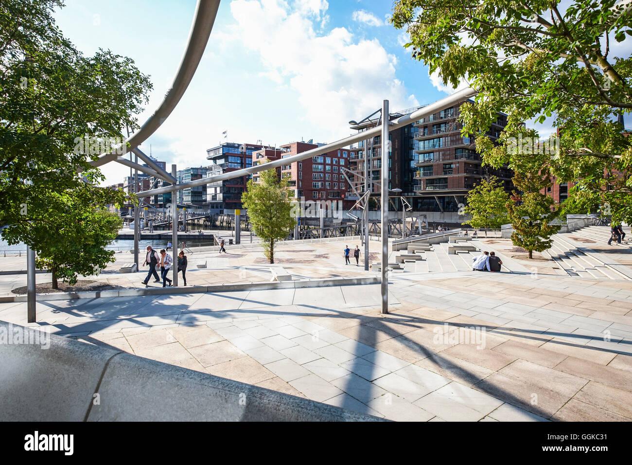 Magellan Terrace, HafenCity, Hamburg, Germany - Stock Image