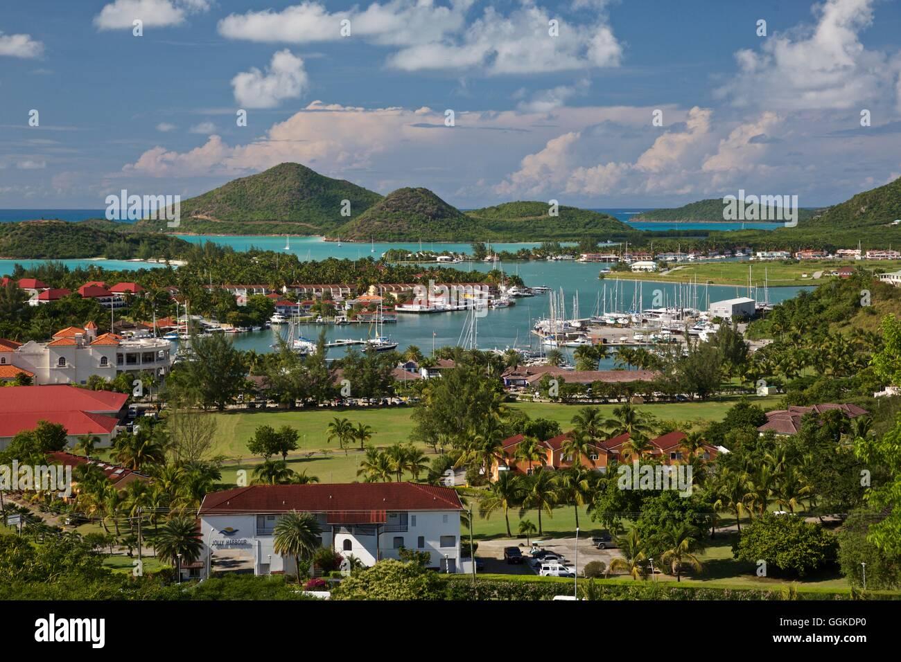 Jolly Harbour, Antigua and Barbuda, Leeward Antilles, Lesser Antilles, Caribbean - Stock Image