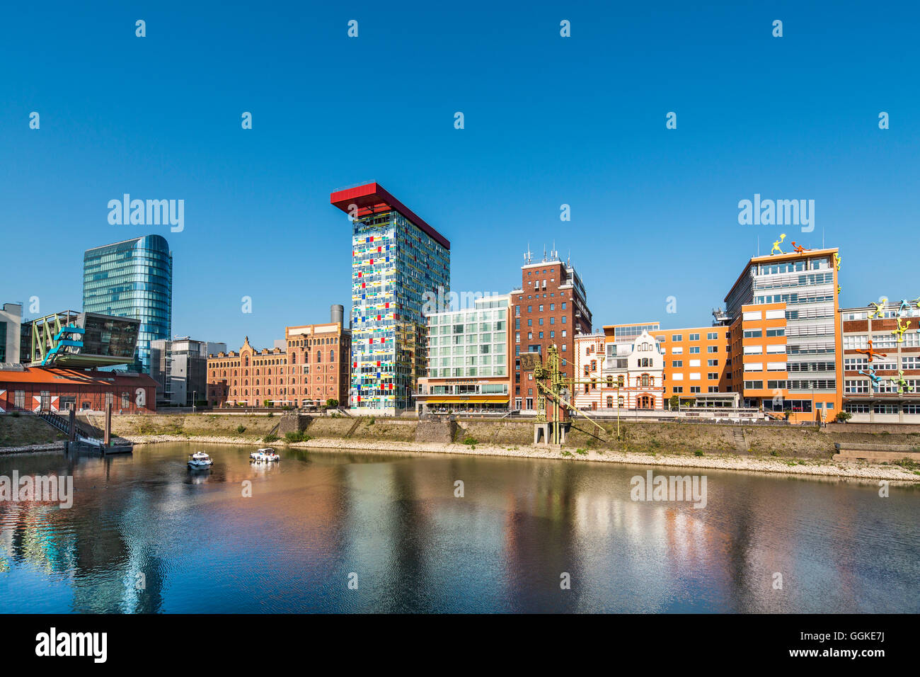 Media harbour, Duesseldorf, North Rhine Westphalia, Germany - Stock Image
