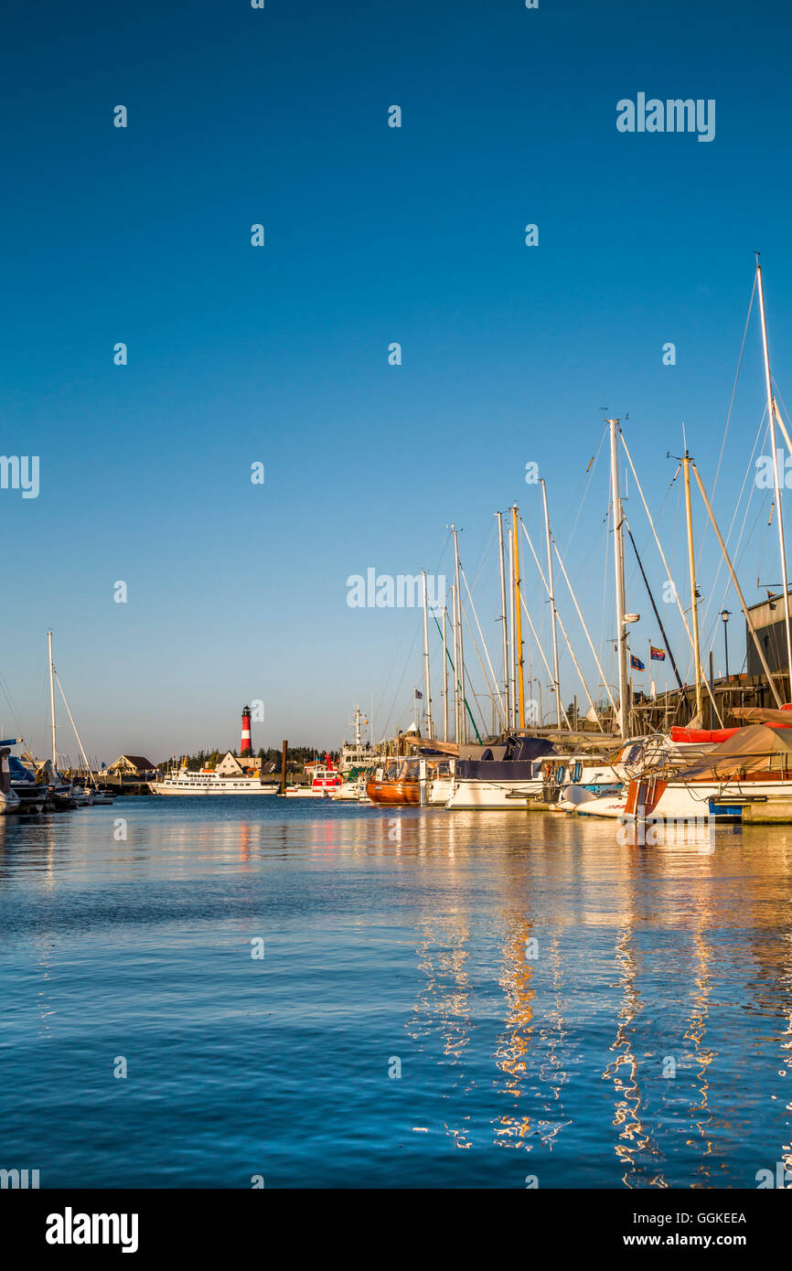 Harbour in Hoernum, Sylt Island, North Frisian Islands, Schleswig-Holstein, Germany - Stock Image