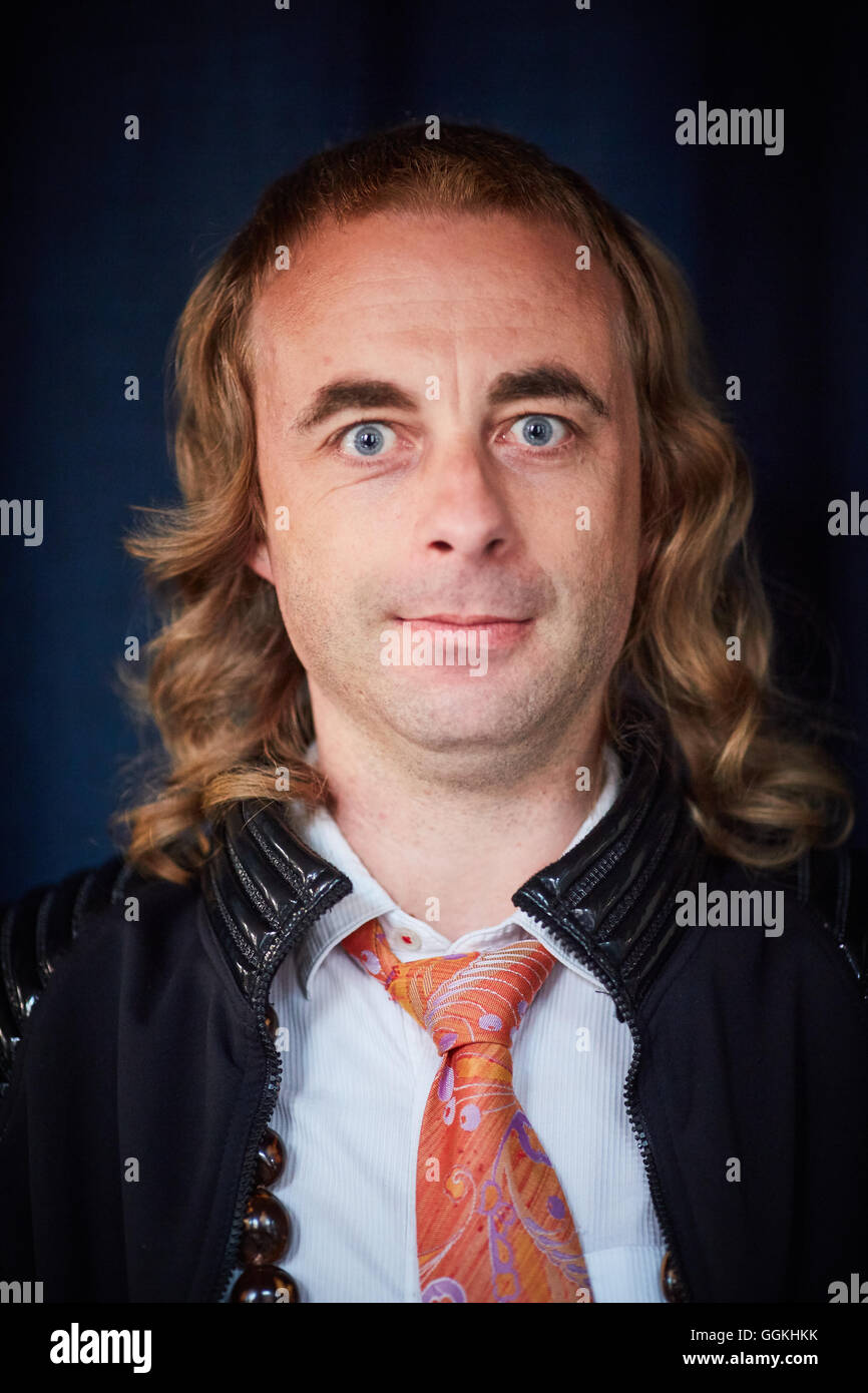 Stand up comedy comedian Paul Foot   from Amersham, Buckinghamshire musings rants 'disturbances' and apparent - Stock Image
